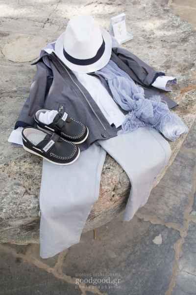 Αγορίστικα ρούχα βάπτισης, κοστουμάκι αγοριού με καπέλο