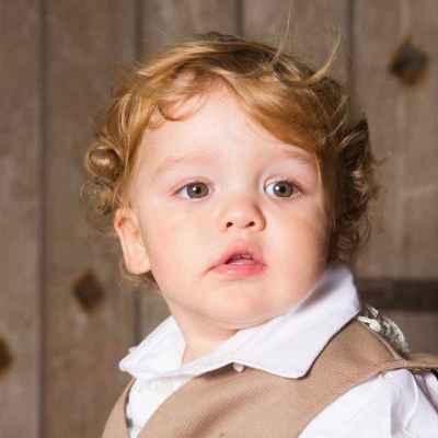 Portrait photograph of a little boy